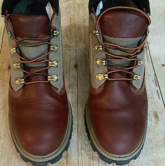 a81bed6e00de Mens Timberland Campsite Two Tone Boots Oxblood 7.  M 5a9b7f273800c53af87b1684